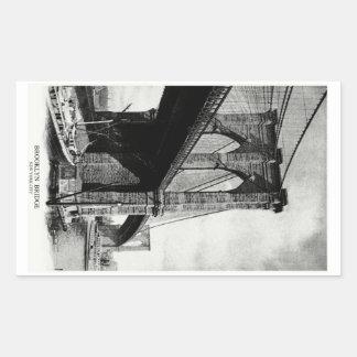 1900 Brooklyn Bridge Rectangular Sticker