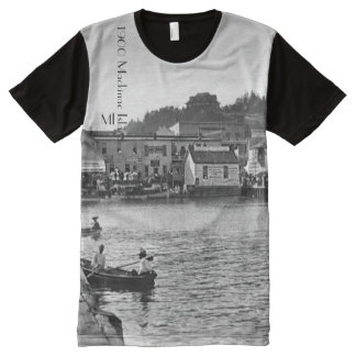 1900 - Dock at Mackinac Island Michigan All-Over Print T-Shirt