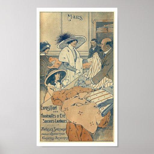 1900 fashion shop clothes store france paris poster zazzle. Black Bedroom Furniture Sets. Home Design Ideas