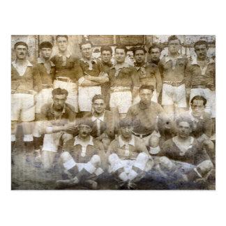 1900 French village football team Postcard