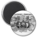 1900 Mckinley -Teddy Roosevelt 6 Cm Round Magnet