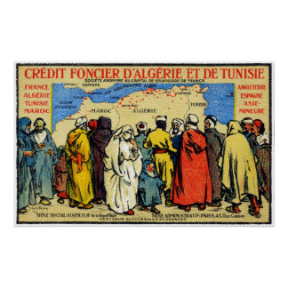 1900 North African Credit Union Poster