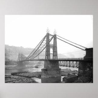 1900 Pointe Bridge Pittsburgh Pa. Poster