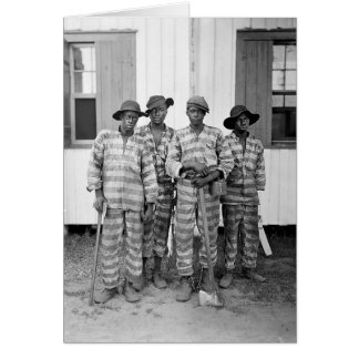 1900 Southern Chain Gang Greeting Card
