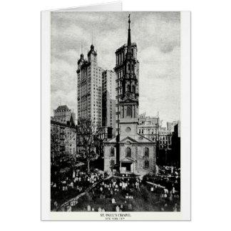 1900 St Paul s Chapel New York City Greeting Card