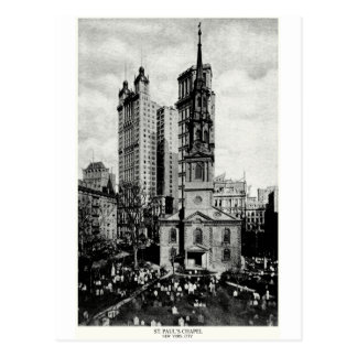 1900 St Paul s Chapel New York City Post Cards