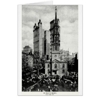 1900 St. Paul's Chapel, New York City Greeting Card