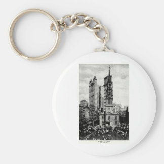 1900 St. Paul's Chapel, New York City Keychains