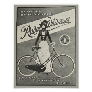1900 Vintage Bicycle Rudge Whitworth Ad Art Poster
