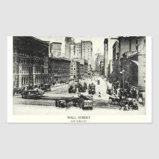 1900 Wall Street Rectangle Stickers