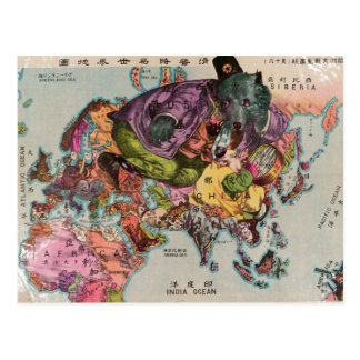1900 World View Map Post Cards