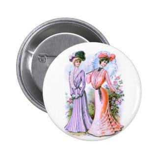 1900s Fashion Dresses 6 Cm Round Badge