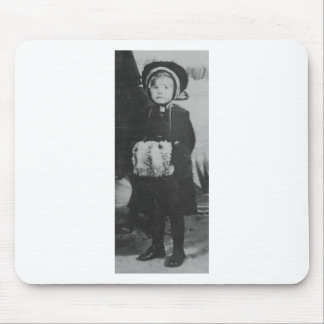 1900's Girl with Hand Muffler Mouse Pad