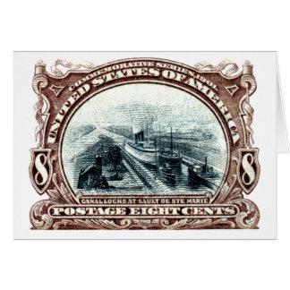 1901 Canal Locks Michigan Note Card