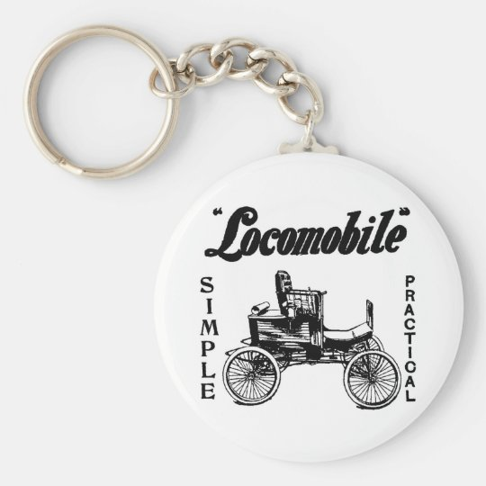1901 Locomobile automobile ad Keychain