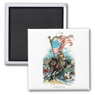 1902 Theodore Roosevelt Square Magnet