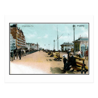 1903 Seaside view West Pier Brighton England Postcard