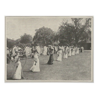 1904 Ladies Archery Competition Poster