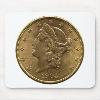 1904 Twenty Dollar Coin front (heads) or $20 money Mouse Mat