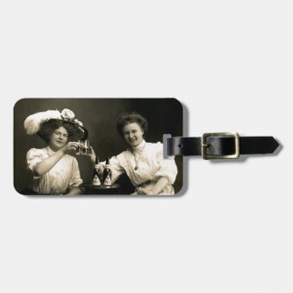 1905 Beer Drinking Girlfriends Luggage Tag
