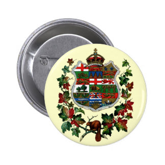 1905 Canadian Coat of Arms 6 Cm Round Badge