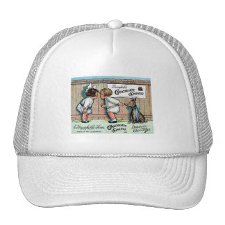1905 Chocolate Candy Ad Hats