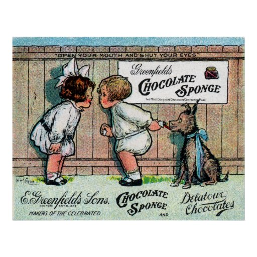 1905 Chocolate Candy Ad Posters