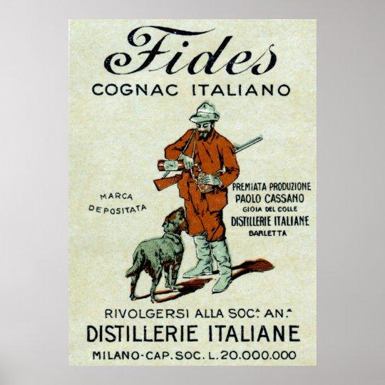 1905 Italian Cognac Poster