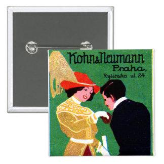 1905 Prague Fashion Poster 15 Cm Square Badge