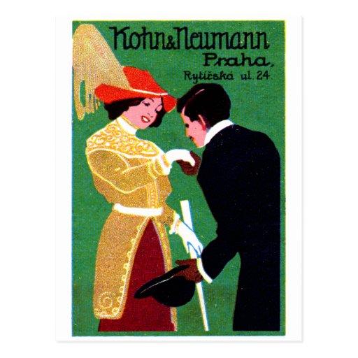 1905 Prague Fashion Poster Post Cards