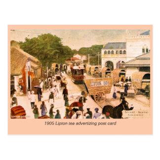 1905 Street Scene Colombo Ceylon Lipton Postcard