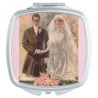 1906 Edwardian wedding Compact Mirror