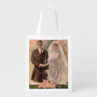 1906 Edwardian wedding Reusable Grocery Bag