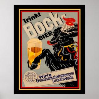 1906 German Bock Beer Advertisement 16x20 Poster