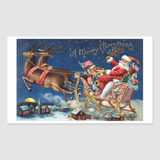 1906 Merry Christmas Rectangular Sticker