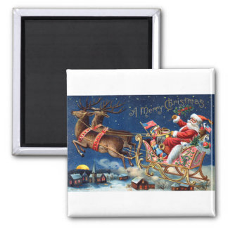 1906 Merry Christmas Square Magnet