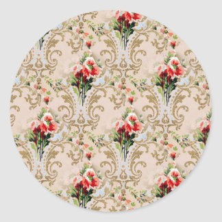 1906 Sears Wallpaper Classic Round Sticker