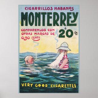 1906 Vintage Monterrey Cigar Advertisement Poster