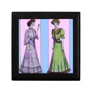 1907 dresses two models trinket boxes