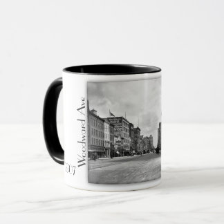 1907 - Woodward Ave in Detroit. Two tone mug. Mug