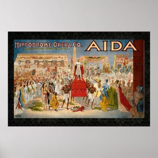 1908 Aida Reissue Vintage 36 x 24 Poster