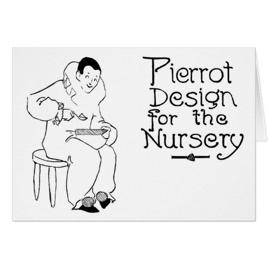 1908 Pierrot Vintage Design for Nursery Card