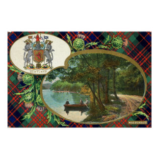 1908 Vintage MacDonald Scotland Crest Poster