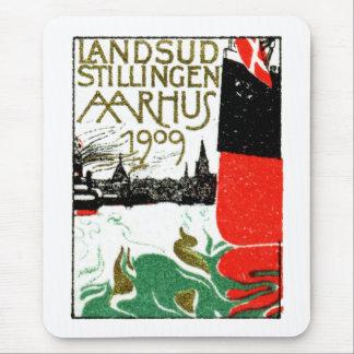 1909 Aarhus Denmark Exposition Poster Mouse Mat