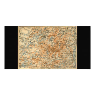 1909 Adirondacks Map from Baedeker s Travel Guide Photo Greeting Card