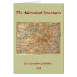 1909 Adirondacks Map from Baedeker's Travel Guide