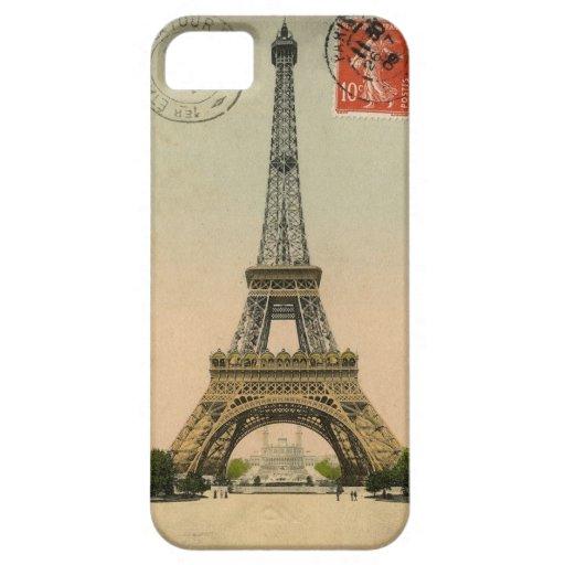 1909 Vintage Eiffel Tower Postcard Paris iPhone 5/5S Case