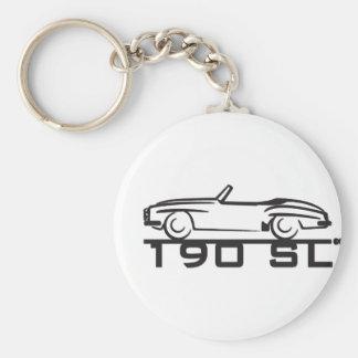 190SL_BLK BASIC ROUND BUTTON KEY RING