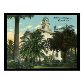 1910-1915 Huffman Mansion in Merced CA Postcards