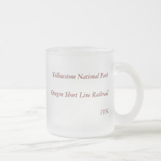 1910 Aerial View Map - Yellowstone National Park Frosted Glass Mug